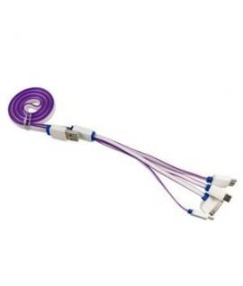 Cable Chargeur 4 en 1 Violet