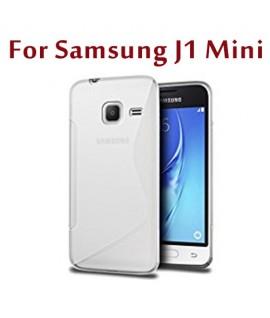 Etui en Silicone pour Samsung Galaxy J1 Mini / Transparent