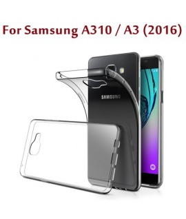 Etui en Silicone pour Samsung Galaxy A310 / A3 (2016) / Transparent
