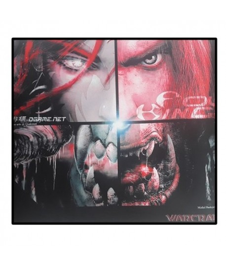 Tapis de Souris Gaming Warcraft Rouge