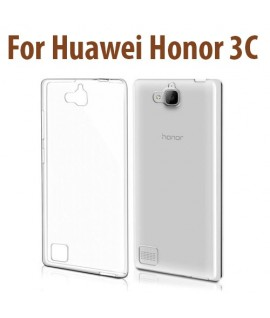 Etui en Silicone pour Huawei Honor 3C / Transparent