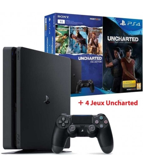 Playstation 4 1To Slim + 4 JEUX Uncharted