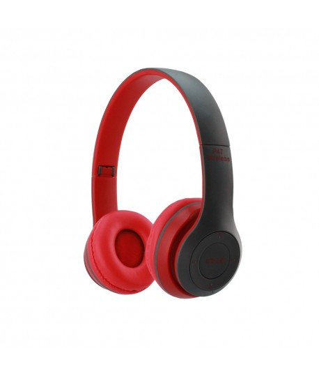 Casque MP3 Bluetooth P47 Rouge