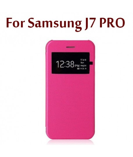 Flip Cover Rose S View Samsung Galaxy J7 Pro