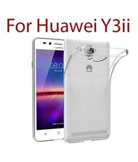Huawei Y3ii - Etui en Silicone Transparent