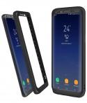 Samsung S8 Plus - Etui en Silicone 360° Avant Noir Arrière Transparent