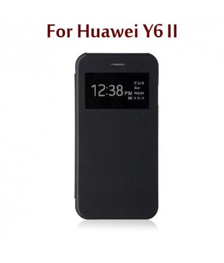 online retailer 5bf64 a8273 Huawei Y6ii - Flip Cover S View - Noir