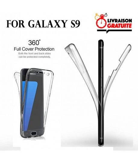 Samsung Galaxy S9 Etui Transparent 360 Avant Et Arriere