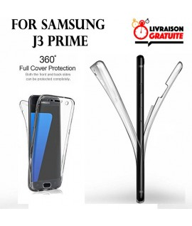 Samsung J3 Prime - Etui Transparent 360° Avant et Arrière