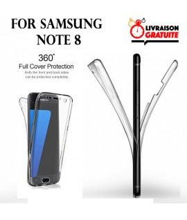 Samsung NOTE 8 - Etui Transparent 360° Avant et Arrière