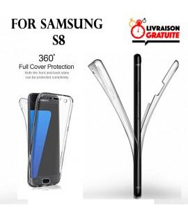 Samsung S8 - Etui Transparent 360° Avant et Arrière