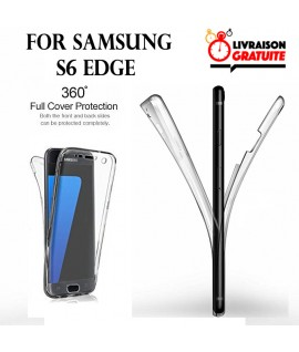 Samsung S6 Edge - Etui Transparent 360° Avant et Arrière
