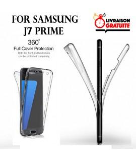 Samsung J7 Prime - Etui Transparent 360° Avant et Arrière