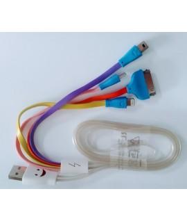 Cable USB Lumineux 4 en 1