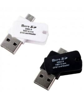 Adaptateur OTG Lecteur de cartes vers Micro USB