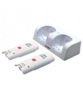 Chargeur KONIX + 2 Batterie WII U
