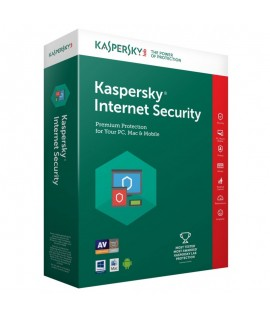 Kaspersky Internet Security 2018 - 1 an / 3 Pc