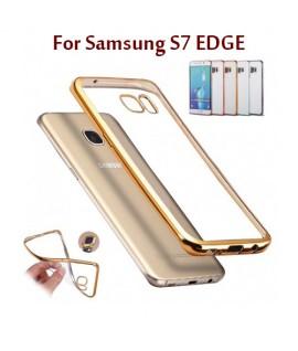 Samsung S7 EDGE - Etui en Silicone Transparent + Contour