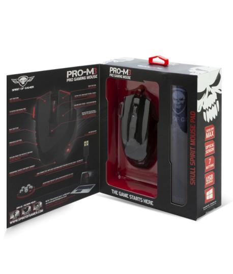 Pack Souris + Tapis Gaming SOG PRO-M3