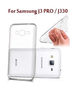 Samsung J3 PRO / J330 - Etui en Silicone Transparent