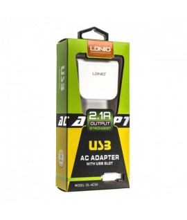 Chargeur Lightning 2.1A LDNIO AC56