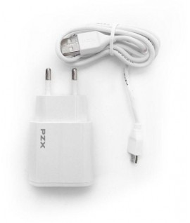 Chargeur Micro USB 2.1A Double USB PZX C856E