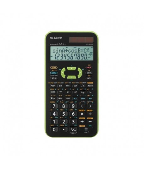 Calculatrice Scientifique Sharp EL-506X - Vert
