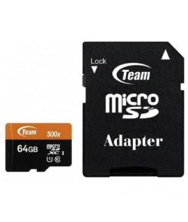 Carte Mémoire TEAM GROUP 64GB Class 10 avec Adaptateur