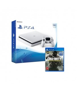 PlayStation 4 SONY 500Go Blanc + Jeu CALL OF DUTY INFINITE WARFARE Gratuit