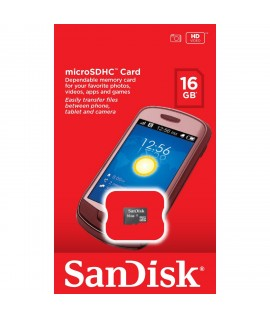 Carte Mémoire Micro SDHC 16 Go SANDISK