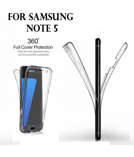 Samsung NOTE 5 - Etui Transparent 360° Avant et Arrière