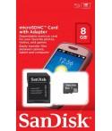 Carte mémoire micro SDHC 8 Go SANDISK
