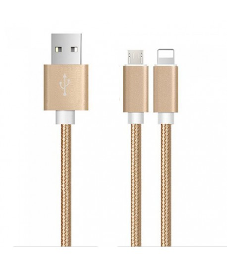 Cable JeDel 2en1 USB vers Micro USB / Lightning