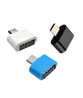 Mini Adaptateur OTG Micro USB - Blanc