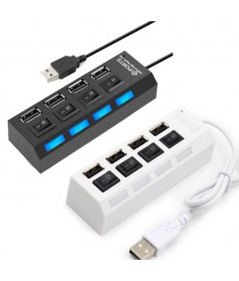 Hub USB 4 Ports USB 2.0 avec Interrupteur
