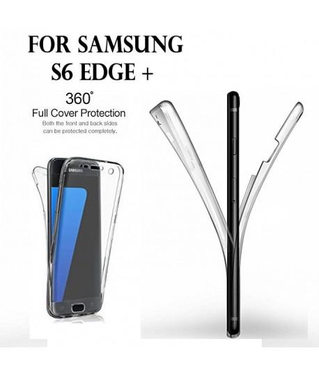 Samsung S6 EDGE Plus - Etui Transparent 360° Avant et Arrière