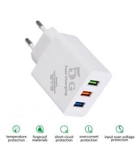 Adaptateur Fast Charging 3USB 2.4A