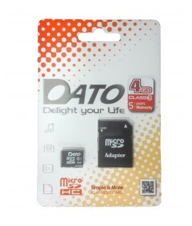Carte Mémoire Micro SD DatoTek 4 Go - Class 10
