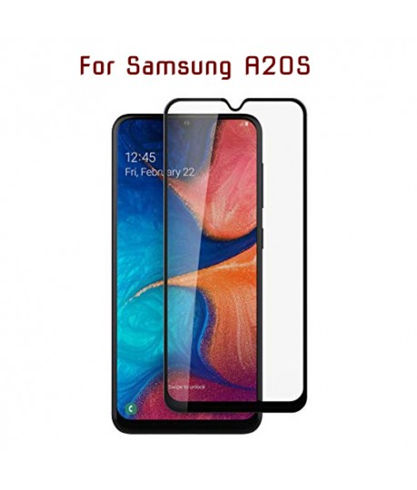 Samsung A20S - Protection FULL SCREEN GLASS - Noir