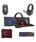 Combo Souris + Tapis + Casque + Clavier Gaming MACRO G-301