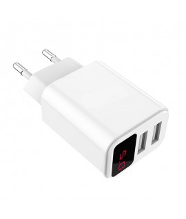 Adaptateur Fast Charging 2 USB 3.1A + Afficheur LCD