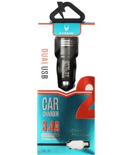 Chargeur Allume Cigare 3.4A + Cable Lightning DEKKIN DK-19