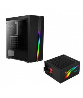 Boitier AEROCOOL BOLT RGB + Bloc Alimentation LUX-550W RGB