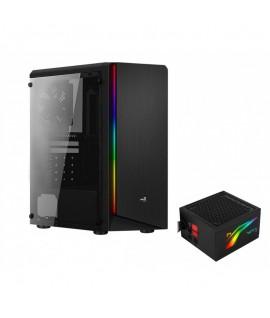 Boitier AEROCOOL RIFT RGB + Bloc Alimentation LUX-550W RGB
