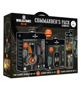 Pack KONIX WORLD OF TANKS WOT COMMANDER Tapis MP-12 + Souris M-30 + Casque GH-40