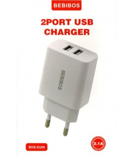 Chargeur Micro USB 2.1A Double USB BEBIBOS BOS-EU09