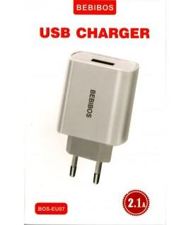 Chargeur Micro USB 2.1A BEBIBOS BOS-EU07