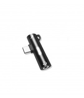 Adaptateur Type C vers Jack Femelle 3.5mm + Port Type C Femelle