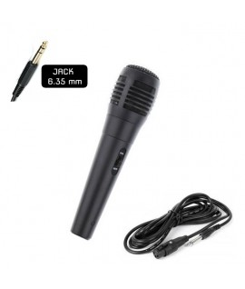 Microphone Filaire pour Système de Karaoké - Jack 6.35mm