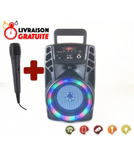 Haut Parleur Bluetooth - MP3 - Radio FM 5W - MK-601